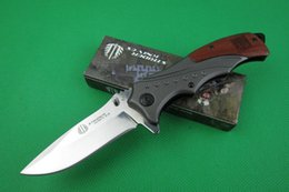 Drop shipping Strider Mick B46 Flipper folding knife 5Cr13 56HRC Mirror Polish blade Steel&Rosewood Handle outdoor survival Rescue knives