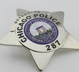 Replica police cop metal badge high quality Chicago Police Department CPD three kinds police officer Chicago sergent Chicago detective colle