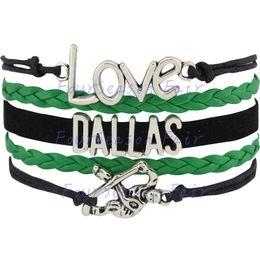 Custom-Infinity Love National Hockey League Dallas Stars Bracelet Ice Hockey Player Fans Adjustable Bracelet Bangles-Drop Shipping