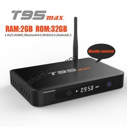 Wholesale T95max Android TV Box support Android5 WIFI G G Bluetooth Hardward D graphics acceleration GB GB S905 Smart TV Box