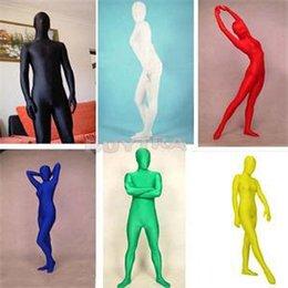 Trajes de cuerpo de spandex al por mayor en Línea-Al por mayor-grande a estrenar del tamaño S-XL juego de la piel Disfraces de Halloween catsuit de Zentai completa del cuerpo Spandex Cosplay Ropa