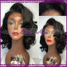 2016 Short Wave Human Hair Wigs Bleached Knots Glueless Full Lace Wigs For Black Women Unprocessed Brazilian Lace Front Human Hair Wigs