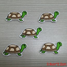 cheap animal tortoise embroidered badges patch for garment professional computer iron on cloth or bag welcome custom