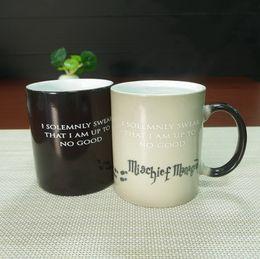 Wholesale DHL best gifts harry potter ceramic heat sensitive magic full color changing mug tea cups