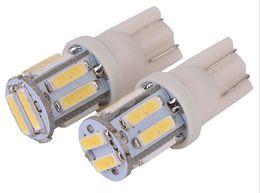 10pcs  1lot T10 12V Colorful 10 SMD 7020 LED 194 168 W5W Car Side Wedge Tail Light Lamp License Plate Super Bright Bulb White