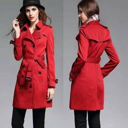 Wholesale Hot Sales Women Long Heritage Trench Coat Ask Gabardine Cotton Comfortable Classical Top Fashion Original Designer Brand New BC1169
