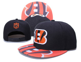 Wholesale newest Cincinnati Snapback Bengals Adjustable Football Snap Back Hats Black Hip Hop Snapbacks High Quality Players Sports Hats for Men Women