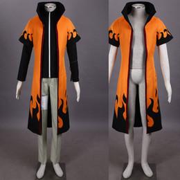 Capas superiores del traje en venta-Personaje de dibujos animados HOT NARUTO Uzumaki Naruto cuarta generación cosplay traje traje traje completo