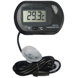Wholesale LCD Digital Fish Tank Aquarium Temperature Thermometer Water Terrarium Black