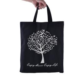 Environmental Pure Cotton Tote Bag Shopping bags - Music Tree Black