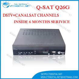 Wholesale Qsat q26g receiver Hd decoder support iptv GPRS WIFI G powervu vs freesat v8 super cloud hd n4