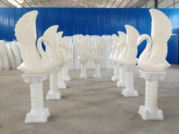 Wholesale 2016 walkway stand plastic swans solid background adornment check in area furnishing articles with base Pillars