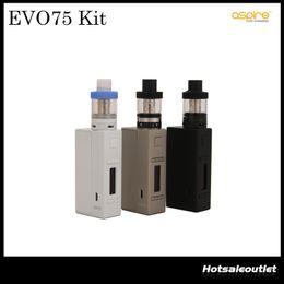 Wholesale Aspire EVO75 Kit with MlL Atlantis EVO Tank And TC W NX75 Mod W O Battery Zinc Alloy Material Kit Original