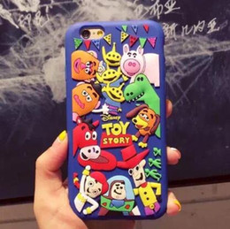 Wholesale Cute Cartoon Monster university Phone Silicone Case Toy Story Soft Cover For iPhone S Plus Plus