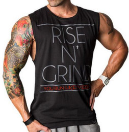 Tops sans manches hommes le sport à vendre-Hommes Bodybuilding Hommes Débardeur Hommes Stringer Sport Fitness Singlet Veste en coton Vêtements Golds Shirt Sans manches GASP Muscle Hip Hop