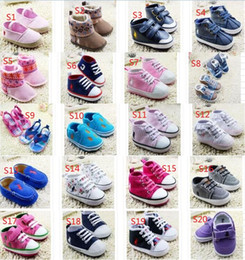 Wholesale 51 styles cheap baby toddler shoes child PU soft bottom shoes CM CM CM boys and girls spring autumn shoes pair B7
