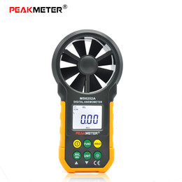 Wholesale PEAKMETER MS6252A Multifunction Digital Anemometer Handheld LCD Electronic Wind Speed Air Volume Measuring Meter With Backlit