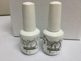 515pcs lot New Gelish gel Polish Top it off and Foundation LED UV Gel nail polish base coat and top coat Nail art high quality