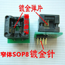 Wholesale Gold plated small sop8 dip8 soic8 socket ic tester seat adapter chip programmer