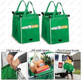 Wholesale Environmentally Friendly Grab Bag Clip To Cart Shopping Bags Pack With Retail Box DHL