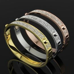 New Arrival fashion 316L stainless steel Silver Gold Rose Gold plated with a small loop bracelets18k rose gold bangles for women