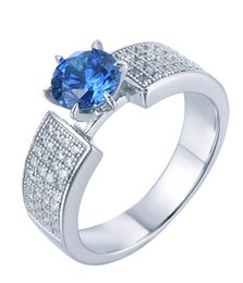 Wholesale 2016 new arrive CZ diamond ring sterling silver female Swan shape Prong setting wedding engagement rings for women jewelry
