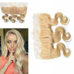 G-EASY Body Wave Lace Frontal Closure Indian 613# Lace Frontal Full Frontal Lace Closure Ear to Ear