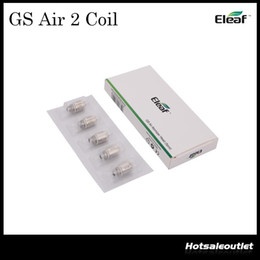 Wholesale Authentic Eleaf GS Air Atomizer Head Pure Cotton Head ohm Replacement Coil Fit GS Air Atomizer GS Air Atomizer