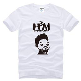 Wholesale Leopard Print Mens Tees - WISHCART Eason Chan DUO fans H3M Printed Mens Men T Shirt t shirt anime 2016 New Short Sleeve Cotton Tshirt Tee Camisetas Masculina