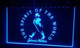 LS371-b Johnnie Walker Spirit of the world Neon Light Sign