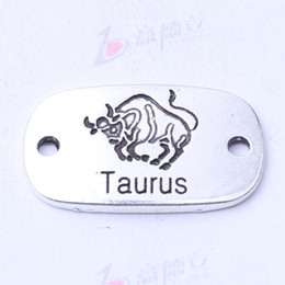 Taurus hand flake square charms antique silver bronze DIY jewelry fit Necklace or Bracelets 100pcs lot 3118z