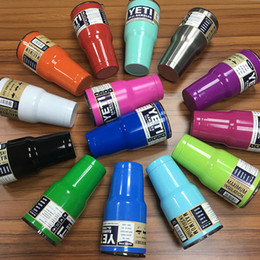 Wholesale 15 Colors YETI Tumbler Rambler Cups oz oz Large Capacity Stainless Steel Tumbler Mugs Pink Gold Blue Orange Purple DHL Shipping