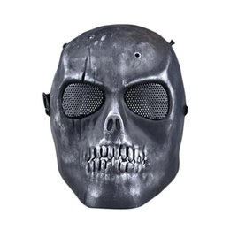 Proteger a paintball en Línea-S5Q Paintball Airsoft esqueleto de la cara llena Proteger la máscara de CS campo de protección AAAGFP Máscara