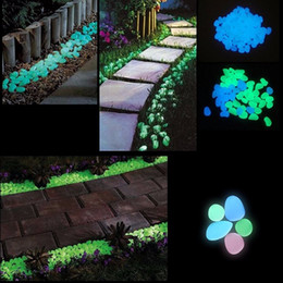 Wholesale 100pcs Nice Glow in the Dark Stones Pebbles Fish Tank Aquarium Home Garden Decor