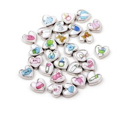 20pcs lot mix Heart shape baby floating charms for glass locket