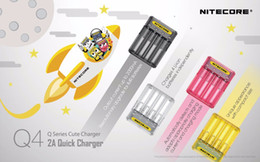 Authenti Nitecore Q4 2A Quick Charger 4 slot Chargers 2000mA in a single slot for IMR batteries and Li-ion batteries vs Nitecore Q2 Charger