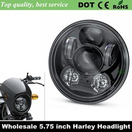 Wholesale 2016 New Motos Accessories quot headlight motorcycle quot led headlight for Harley quot Motorcycle Black Projector Daymaker