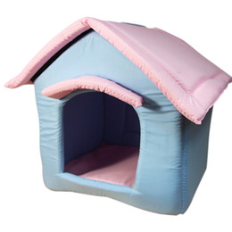 Wholesale Sleeping Bad Comfortable Lovely Dog House Kennels For Puppy Cat With Cushion Mat Zipper Detachable Cute Pets Product Supplies