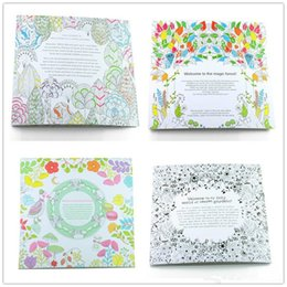 Wholesale Coloring Books Drawing Secret Garden An Inky Treasure Hunt and Coloring Book Children Adult Relieve Stress Kill Time Graffiti Painting Books
