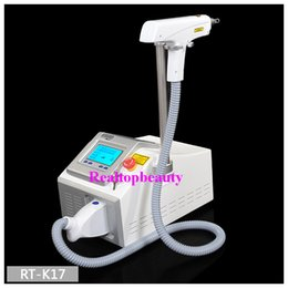 Wholesale Big Promotion Portable Q switch Nd Yag Laser Tattoo Removal nm nm Black Doll Tattoo Remover Skin Whitening Beauty Machine