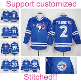 Wholesale 2016 Toronto Blue Jays Jersey Troy Tulowitzki Josh Donaldson Kevin Pilla Jose Bautista Martin Stroman Baseball Jerseys Men Long Sleeve