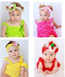 27 Colors Newborn Baby Lace Romper Infant Toddler Ruffle Lace Romper Ruffled Lace Rompers bow jumpsuit infant bodysuit