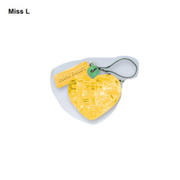 Classic Crystal Puzzle Lover Heart Yellow Mini 3D Model Practical Gift For Kid Cute Toys Creative Game