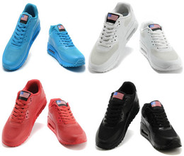 Wholesale Unisex Men Women USA max P American FLAG running shoes Independence Day With Air cushion HYPs QS Trainers Zapatos