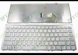 Nouveau clavier d'ordinateur portable pour Sony Vaio VGN FW FW17 FW19 FW48 FW58 Série FW590 (avec Silver Frame) Blanc US - 148084521 à partir de clavier vgn fabricateur