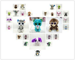 Wholesale 2016 TY beanie boos big eyes plush toy doll child birthday Christmas gift Dog elephant rabbit Penguin
