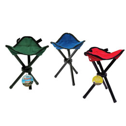 Wholesale Pocket Outdoor Camping Hiking Fishing Stool Tripod Three feet Folding Chair Seat With Leg Stool Green