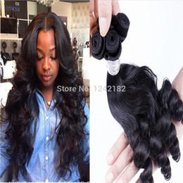 Black Women Brazilian Human Remy Hair Natural Loose Wave Hair Weave Virgin Brazilian Loose Wave 3 Bundles full head lot