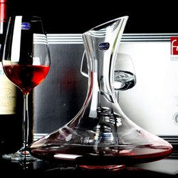Wholesale BOHEMIA Czech imported crystal wine decanters points wine jug wine bottle ml oblique mouth