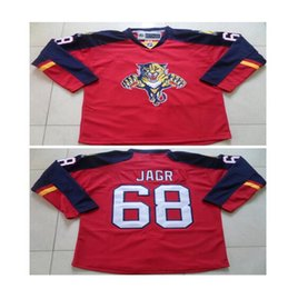 Wholesale 100 Polyester Jaromir Jagr Florida Panthers Red Premier Player Jersey High quality embroidery Hockey Jersey for Men